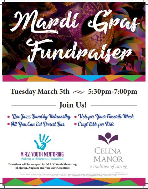 Mardi Gras Event at Celina Manor